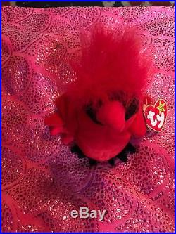 Extremely Rare Beanie Baby Mac The Cardinal