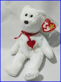 91af38e7f72 Extremely Rare! MWMT VALENTINO 1993 TY INC Beanie Baby w 2 Swing Tag Errors  PVC