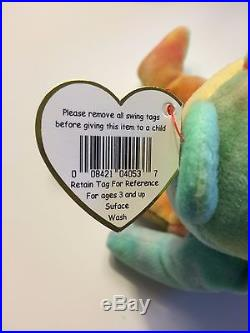 Extremely Rare Peace TY Beanie Baby with Tag Errors
