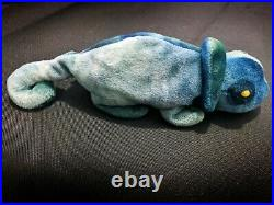Extremely Rare'Rainbow' Chameleon TY Beanie Baby 1997 with ERRORS