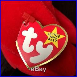 Extremely Rare TY Beanie Baby MAC THE CARDINAL with ALL ERRORSMINT