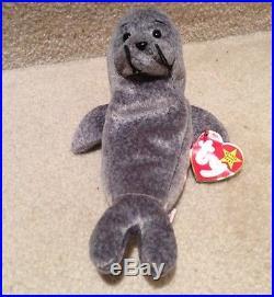 Extremely Rare Ty Slippery Beanie Baby 1998