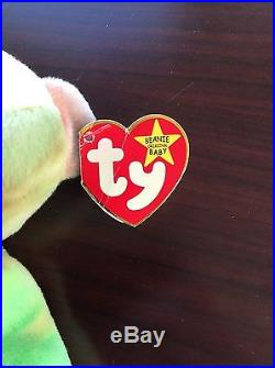 Extremely rare Ty Beanie Babies Peace Bear with all errors Mistakes