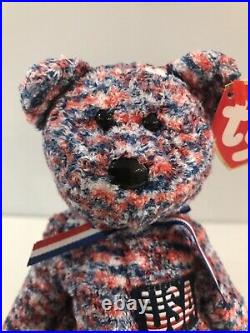Fourth Of July I Was Born In The USA Beanie Baby Usa! Ty 2000 Rare