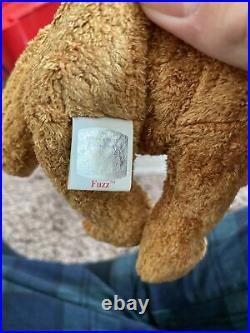 Fuzz Beanie Baby Rare and RETIRED with Tag Errors TY