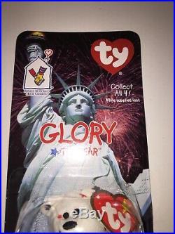 GLORY The Bear -1999 McDonalds Ty Beanie Baby with RARE errors 1993/OAKBROOK