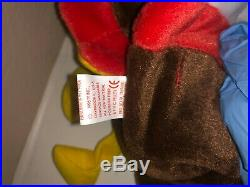 Gobble the Turkey TY Gobbles Beanie Baby Rare tag errors! Vintage 1996