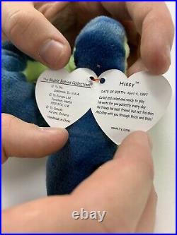Hissy Beanie Baby Original 1997 Many Errors Rare