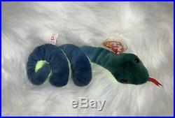 Hissy The Snake Retired Vintage TY Beanie Baby Rare PVC Pellets DOB April 4 1997