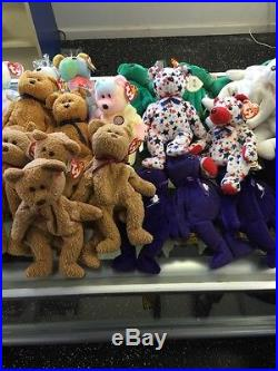 Huge Ultra Rare Beanie Baby TY Lot WHOLESALE Tag Errors WOW! All Retired