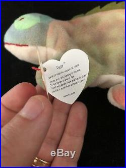 IGGY the iguana RARE ty beanie baby great condition! Canadian tush tag