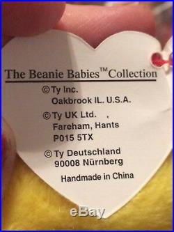Inch Worm TY original beanie baby RETIRED Errors misprints 1995 Rare