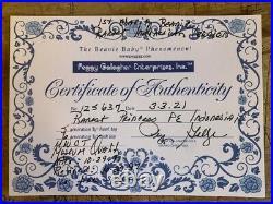 Indonesia Beanie Baby Princess Diana Bear Super Rare First Edition Made 1 Day