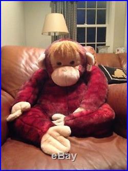 Jumbo Schweetheart Monkey Ty Beanie Buddy Beanie baby beanie babies rare 42 inch