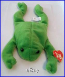 f6718318bd3 LEGS the Frog Ty Beanie Baby 1st   1st Gen RARE NEAR MINT 1993 GREAT SHAPE