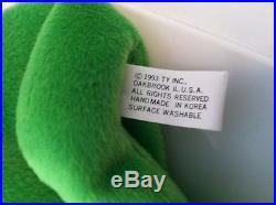 LEGS the Frog Ty Beanie Baby 1st / 1st Gen RARE NEAR MINT 1993 GREAT SHAPE