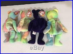 Lot Rare Beanie Babies 1997 Princess Diana & Peace Beanie Baby Excellent Cond
