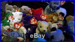 Lot of 27 rare'97 retired Princess Diana Bear RARE old Ty beanie babies Bears