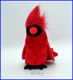 MAC The Cardinal Ty Beanie Baby SUPER RARE MINT LIMITED EDITION Retired withERRORS