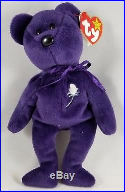 MINT PRINCESS DIANA BEAR Retired Ty Beanie Baby VERY RARE! 1997 MINT Collectible