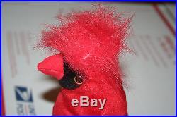 Mac Cardinal TY Beanie Baby RARE 4 Errors 1998 1999 Gasport Hologram China PE