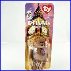 Mcdonalds TY Beanie Baby Britannia The Bear RARE WITH 2 TAG ERRORS