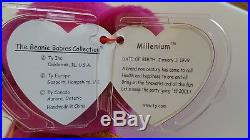 Millennium Bear Ty Beanie Baby Rare Retired BB Bear 12Mill
