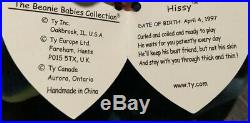 NEW Beanie Babies Hissy ERRORS 1997 Ty Baby ORIGINAL OWNER Retired Rare Snake