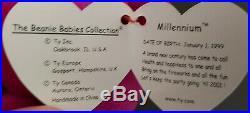 NEW Ty Beanie Baby Millennium, RARE, ERRORS, Millenium Mispelled, Gasport 1999