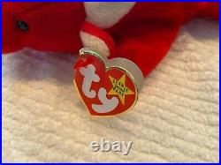 New TY Beanie Baby Snort The Bull 1995 Retired Rare 15 Tag Errors Numeric Date