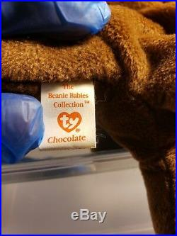 Original 9 Ty Beanie Baby Retired Chocolate the rnoose Rare Vintage 1993 PVC