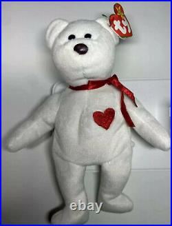 Original Mint Valentino Ty Beanie Baby RARE With Tag Errors, Brown Nose, PVC Pellets