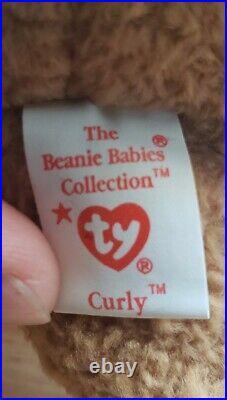Original RARE Beanie Baby Curly 1993 Multiple Errors Collectors Item