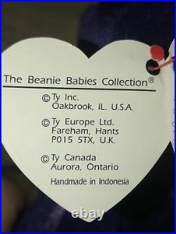 Original Ty Princess Diana Beanie Baby Rare Retired 1997 PE Indonesia No Spaces