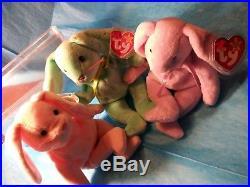 Oriiginal/Suface 1ST EDITION RARE PVC Ty Beanie Babies HIPPITY+HOPPITY+FLOPPITY