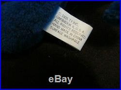 PEANUT Royal Blue Beanie Baby Elephant Plush Stuffed (RARE!)