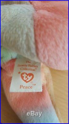 Peace Ty Beanie Baby-Rare-Retired-Rainbow