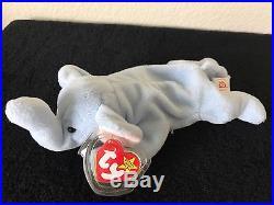 Peanut Light Blue Ty Beanie Baby-rare Errors-must See