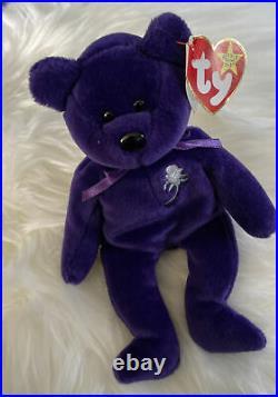 Princess Diana 1997 Beanie Baby with Buddy, P. E. Pellet Rare. + Cd Diana Tribute