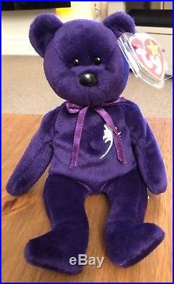 Princess Diana Beanie Baby 1st Edition Rare (GHOST VERSION) Must See