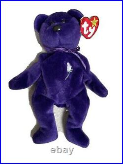 Princess Diana Ty Beanie Baby 1st Edition Made in Indonesia No Space PVC Rare