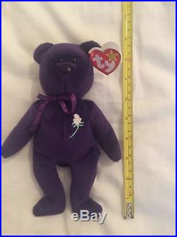 Princess Diana Ty Beanie Baby, very rare and in excellent Condition 1ST EDITION