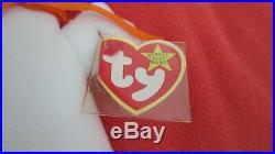 RARE 1995 Spooky Ty Beanie Baby (Style 4090) PVC Pellets MAJOR TAG ERRORS