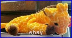 RARE 1995 Twigs The Giraffe TY Beanie Baby PVC Tag Errors Plush Toy RETIRED