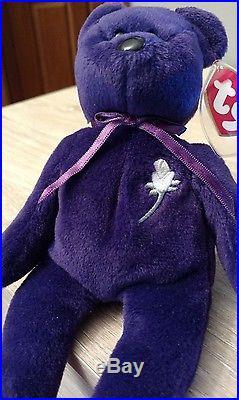 bc0c28581b4 RARE 1997 1ST Edition Ty Beanie Baby Bear Princess Diana China PE NO   HANDMADE