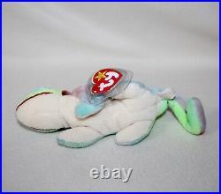 RARE 1997 IGGY The IGUANA Original TY Plush Beanie Baby 9 ERRORS Display Case