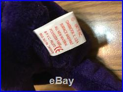 RARE 1997 Princess Diana Ty Beanie Baby- PVC-CHINA-NO INSIDE STAMP