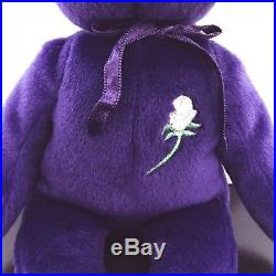 RARE 1997 Princess Diana of Wales Ty Beanie Baby Retired P. E. Pellets (MINT)