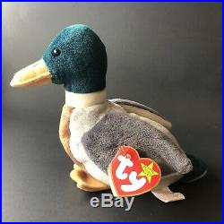 @RARE 1997 Retired Jake the Mallard Beanie Baby With Tag Errors Collectible@