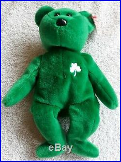 RARE 1997 TY ERIN Beanie Baby With Tag Errors Mint Condition RETIRED